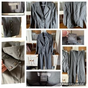 Classic grey Jacket and pant suit by Ann Taylor